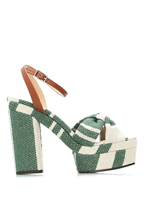 Castaner Platform Topuklu Sandalet Yeşil